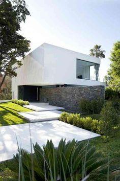 entrée extérieure de maison et déco moderne