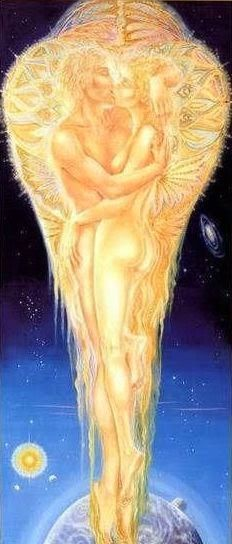The Devine Marriage of Twin Souls Tantra, Twin Flame Love, Twin Flames, Flame Art, Twin Souls, Goddess Art, Gods And Goddesses, Pics Art, Erotic Art