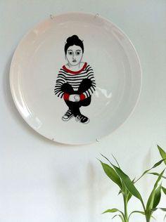 Ilustrista: Hand painted plate