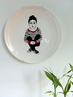 Ilustrista: Hand painted plate