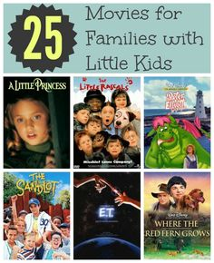 25 Movies for Families with Little Kids plus easy outdoor family movie night