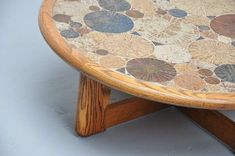 Tue Poulsen Ceramic Art Coffee Table, Haslev Denmark, 1963   From a unique collection of antique and modern coffee and cocktail tables at https://www.1stdibs.com/furniture/tables/coffee-tables-cocktail-tables/