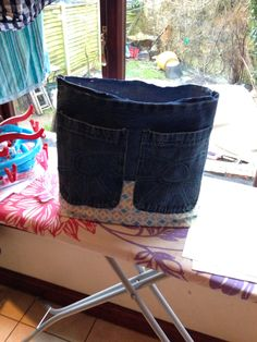 My part made upcycled denim bag