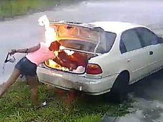Mujer quizo vengarse de su novio pero incendió el carro equivocado