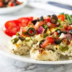 This Mediterranean Chicken Bake is loaded with Greek flavors and it's absolutely delicious! This meal is easy to make and results in super tender, juicy chicken infused with seasoning. Chicken Sandwich Recipes, Easy Chicken Recipes, Chicken Pasta, Baked Chicken, Mediterranean Chicken Bake, Recipe Using Chicken, Dinner Recipes, Baking, Chargrilled Chicken