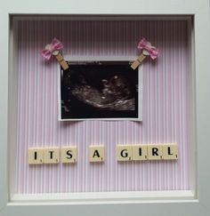 It's a girl baby scan photo frame first baby by treasuredmoments14