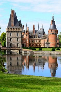 Château de Maintenon, France. Best known as the private residence of the second spouse of Louis XIV, Madame de Maintenon.