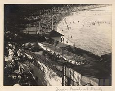 'Ocean Beach at Manly' - RAHS-Osborne Collection c. 1930s