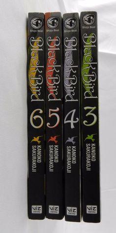Black Bird 3-6 manga book lot Kanoko Sakurakoji Viz shojo paranormal romance