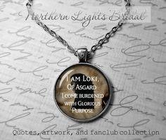 Loki of asgard necklace loki jewelry Loki by NorthernLightsBridal