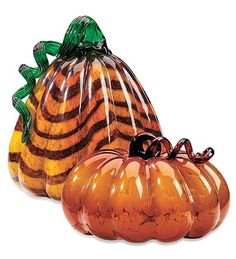 These Glass Pumpkins would make a lovely centerpiece in the autumn.