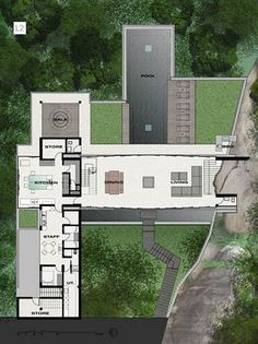 Villa Amanzi by Original Vision - Architecture & Engineering Modern House Plans, Modern House Design, House Floor Plans, Villa Plan, Villa Design, House On The Rock, Mansions Homes, Architecture Plan, Minecraft Architecture