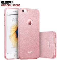 Case for  6s 6 Plus, ESR Hybrid three layer Soft TPU 3in1 Light Weight Girl Fashion Shining Cover Case for 6 6s Plus