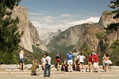 people taking pictures at yosemite entrance - Google Search