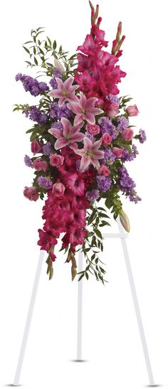 Order Touching Tribute Spray - from Oneida floral & Gifts, your local Oneida florist. For fresh and fast flower delivery throughout Oneida, NY area.
