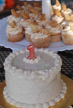 Abram's 1st birthday Cinco de Mayo party. churro cuppies & smash cake