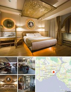La ubicación del hotel, entre los distritos de Sirkeci y Sultanahmet, ofrece un auténtico tesoro repleto de museos locales, restaurantes y tiendas, así como de lugares de interés turístico de fama mundial, como la iglesia de Santa Sofía, la Mezquita Azul, el Palacio de Topkapi y el Gran Bazar, todos a 5 minutos a pie. Taksim, el moderno epicentro de Estambul, queda a solo 10 minutos en coche y ofrece a los huéspedes bares y vida nocturna. La parada de tranvía de Gulhane, que conecta con…