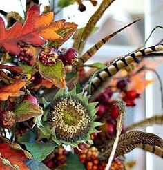 Fall Centerpiece from Diving Dog Vineyard...Fall Harvest Wedding.