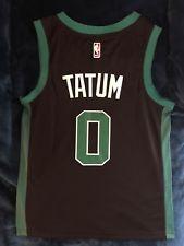 100% authentic b99fb bbe74 Jayson Tatum #0 Boston Celtics Black Jersey Men's New NWT ...
