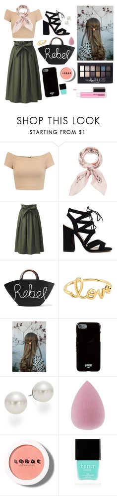 """Untitled #159"" by ciaosonia-1 ❤ liked on Polyvore featuring Alice + Olivia, Manipuri, Uniqlo, Eugenia Kim, Sydney Evan, Givenchy, AK Anne Klein, Maybelline, LORAC and Butter London"