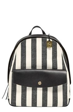 Skagen 'Aften' Stripe Canvas Backpack