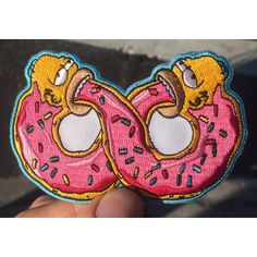 HOME :: Pins & Patches :: Patches :: Double donut Iron On patch