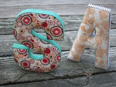 DIY fabric letters. 14 dollars at antro.