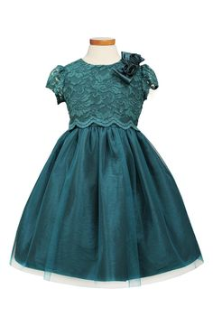 Sorbet Lace & Taffeta Dress (Toddler Girls, Little Girls, & Big Girls) | Nordstrom