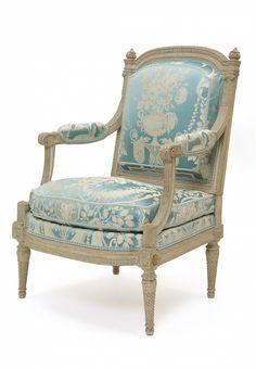 Fauteuil à la reine - Georges Jacob (1739-1814) France, époque Louis XVI (1774-1791) Hêtre sculpté et peint. Inv. LOUVRE OA 8166 © Les Arts Décoratifs