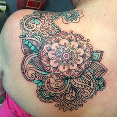 Tattoo by Amber Bailey #mandalatattoo #paisleytattoo