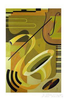Jazz, 2004 Gicléedruk van Carolyn Hubbard-Ford bij AllPosters.nl