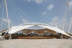 tensile fabric structure, ETFE dome + PTFE