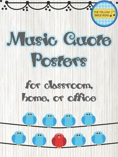 posters are filled with famous music quotes by musicians, scholars, and authors. Each poster is uniquely designed with multiple styles represented in each poster. **Revised on August These would be great for your classroom or office. Classroom Posters, Music Classroom, Classroom Decor, Piano Teaching, Teaching Tips, Learning Piano, Piano Lessons, Music Lessons, Music Bulletin Boards