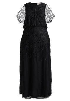 Lace   Beads Curvy BLOUSON MAXI DRESS - Abito da sera - navy a € 144.  Zalando Shop 4355ce26064