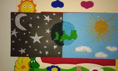 day-and-night-bulletin-board-idea-3 | Crafts and Worksheets for Preschool,Toddler and Kindergarten