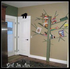 DIY  Handmade : DIY  Make a Tree Bookshelf