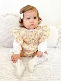 Meadow Romper Baby Girl Romper, Baby Girl Dresses, Girl Outfits, Sweet Girls, Little Girls, Baby Girls, Nappy Change, Baby Girl Accessories, Girls Wardrobe