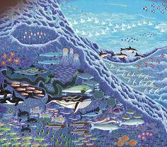 Esben Hanefelt Kristensen - En bølge med sit følge 115 x 130 cm