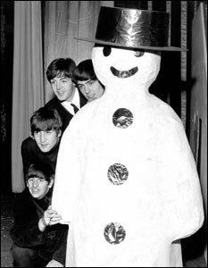 """22DEC1963 The #Beatles perform at Empire Theatre in Liverpool. This is the second preview of their """"Christmas Show"""" which is due to open in London in two days."""