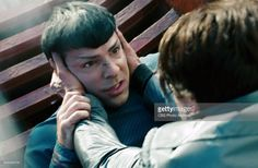 Zachary Quinto as Commander Spock, left, fighting with Benedict Cumberbatch as Khan Noonien Singh in the 2013 movie, 'Star Trek: Into Darkness.' Release date May 16, 2013. Image is a screen grab.