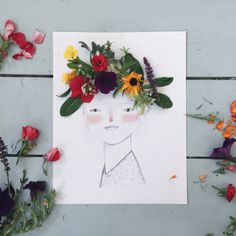 Mer Mag: Decorating our Midsummer Maiden with a Floral Crown Autumn Crafts, Nature Crafts, Diy For Kids, Crafts For Kids, Arts And Crafts, Preschool Art, Craft Activities For Kids, Land Art, Arte Elemental