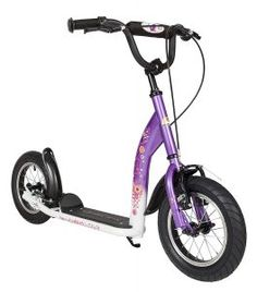 BIKESTAR® Original Safety Pro Sport Push Kick Scooter Kids with brakes, mudguard and air tires for age 7 year old children Off Road Scooter, Kick Scooter, Scooter Tout Terrain, Purple Diamond, Kids Sports, Alloy Wheel, Offroad, Bicycle, Scooters