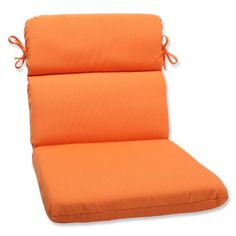Balcony Make Over Pillow Perfect Rounded Corners Chair Cushion With Orange  Sunbrella Fabric U003c3 This