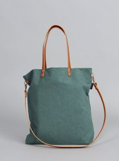 Schultertaschen - Tasche in emerald-grün // green should bag by MINUK via dawanda.com
