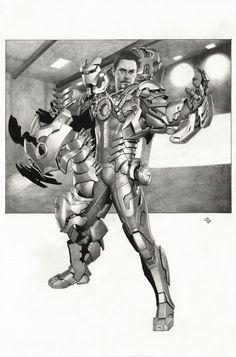 Iron Man 3 movie conceptual art / key frame sequence - Extremis by Adi Granov Comic Art