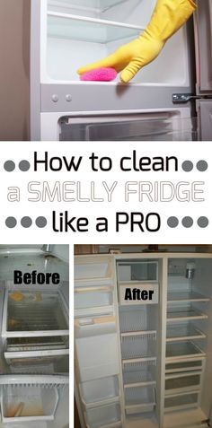 How to clean a smelly fridge like a pro - Cleaning Ideas - Make your cleaning ritual easier