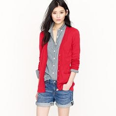 red cardigan....yes please....actually the whole outfit please.