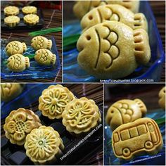 Happy Home Baking: Mid-Autumn Treats (Sept 2011) - Awesome blog w/links to mooncake recipes-all varieties (thousand layer, snowskin, jelly, ice cream) & flavors (chocolate nut, banana, green tea, cream cheese, custard...)