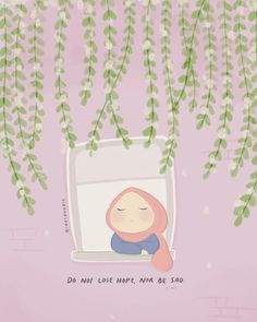 Islamic Quotes Wallpaper, Islamic Love Quotes, Islamic Inspirational Quotes, Cute Emoji Wallpaper, Cute Cartoon Wallpapers, Pretty Wallpapers, Korean Illustration, Hijab Drawing, Instagram Frame Template