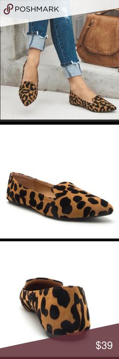 317dde359e27 Leopard camel flats loafers pointy women's shoes Brand new in box Leopard  is a new black